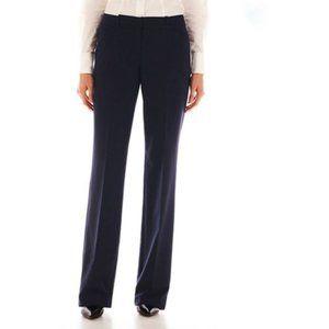 Worthington Black Modern Fit Dress Trouser Pants Size 14W Short NEW